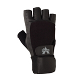 Valeo Half-Finger Leather Material Handling Wrist Wrap Gloves (GLLW)