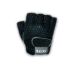 Valeo Half-Finger Leather Mesh Back Material Handling Gloves (GMLS)