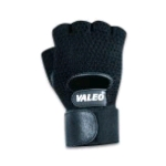 Valeo Half-Finger Leather Mesh Back Wrist Wrap Material Handling Series (GMLW)
