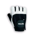 Valeo Half-Fingered Anti Vibration Sueded Leather Gloves (GLAX)