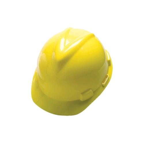 MSA 475360 V-Gard Helmet w/Fas-Trac Suspension, Ratchet, Yellow