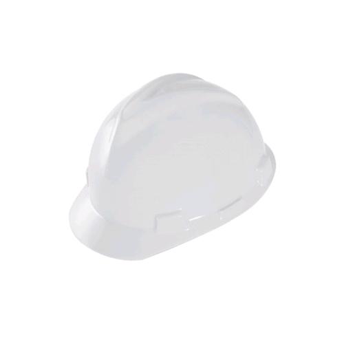 MSA 463942 V-Gard Helmet w/ Staz-On Suspension, Pin-Lock, White