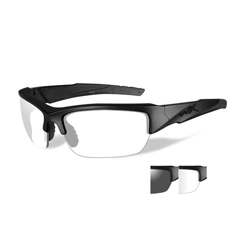Wiley X Valor Sunglasses Grey Clear Lens Matte Black