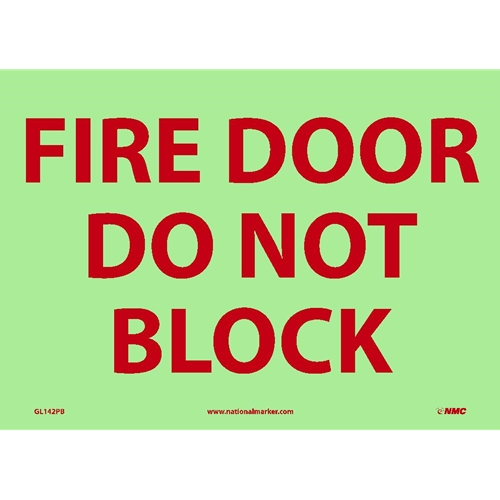 Fire Door Do Not Block Sign Gl142pb