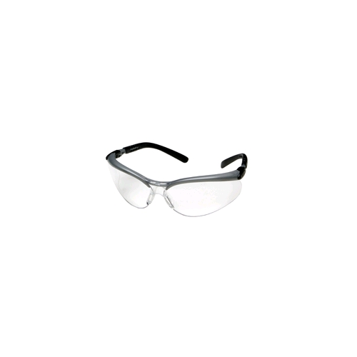 AOSafety BX Safety Glasses, Silver/Black Frame, Clear Anti-Fog Lens