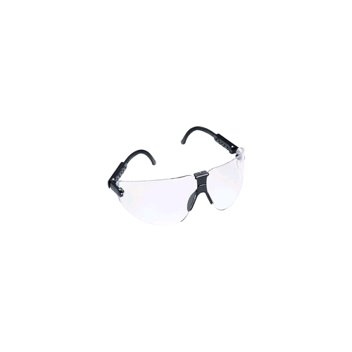AOSafety Lexa, Large, Black Frame, Clear, DX Lens