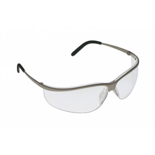 AOSafety Metaliks, Nickel Sport Frame, Clear Lens