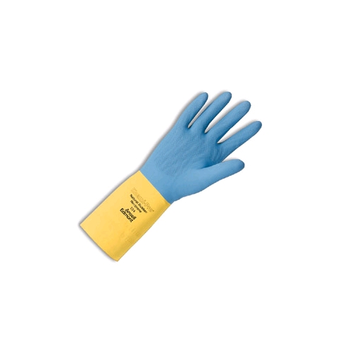 Ansell Chemi-Pro Cotton Flock-Lined, Neoprene Over Natural Rubber Latex Gloves