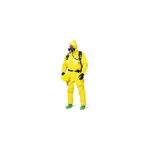 Dupont Tychem BR128T Coveralls w/Attached Hood, Elastic Respirator Fit, Elastic Wrists, Boots
