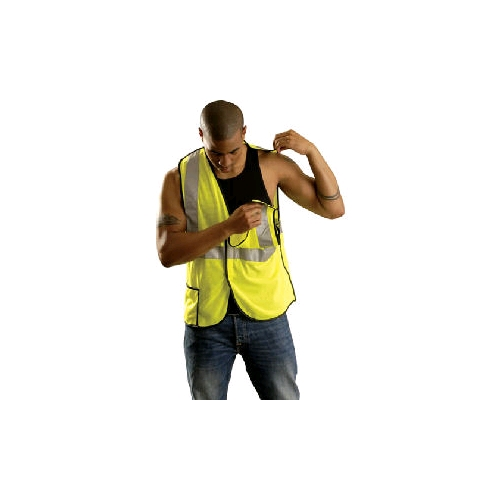 OccuLux ANSI Class 2 Cool Mesh Break-Away Vest, Yellow