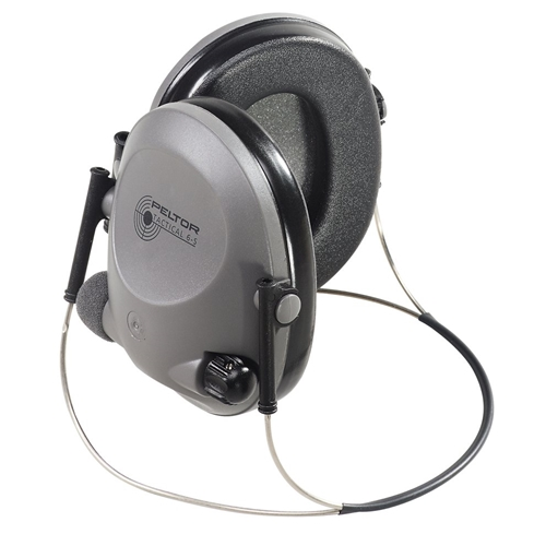 Peltor Tactical 6 Stereo Slim Line Electronic Headset, Black, Behind-the-Head