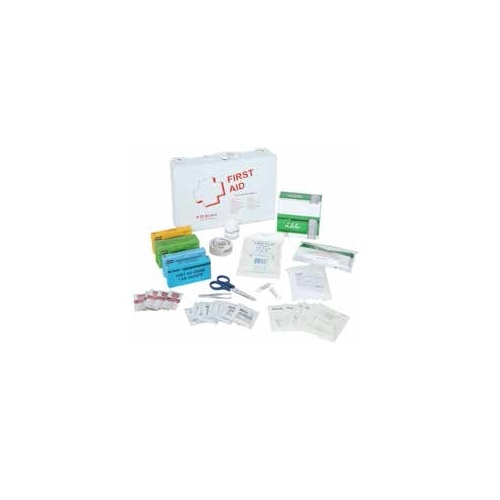 Standard First Aid Kit w/CPR Kit- Steel Box (25 People)