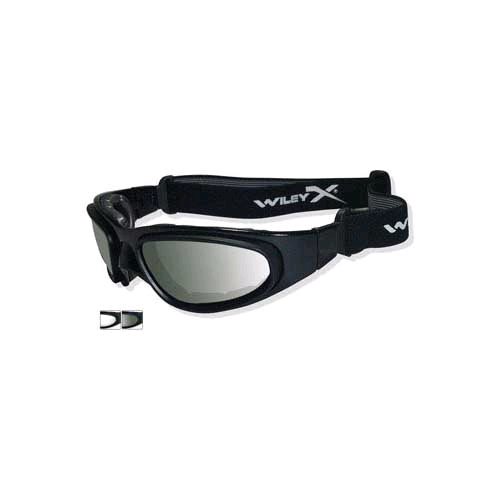 Wiley-X SG-1 71 Goggles, Smoke/Clear/Gloss Black Frame