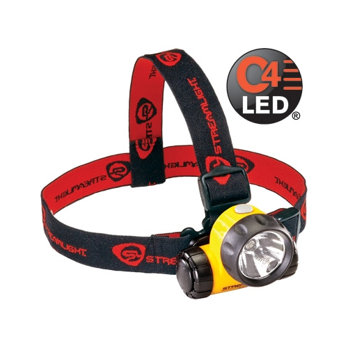 Streamlight Argo Headlamp with lithium batteries. Rubber & Elastic Straps