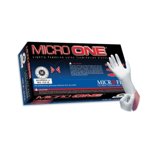 Microflex Micro One Lightly Powdered Latex Industrial Gloves