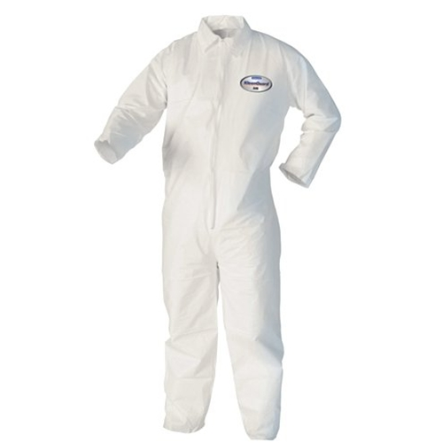 Kleenguard A10 Light-Duty Coveralls, Zipper Front, Elastic Wrists