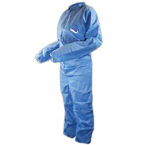 KleenGuard A20 Coveralls, Blue Demin, Zipper Front, Elastic Back, Wrists & Ankles