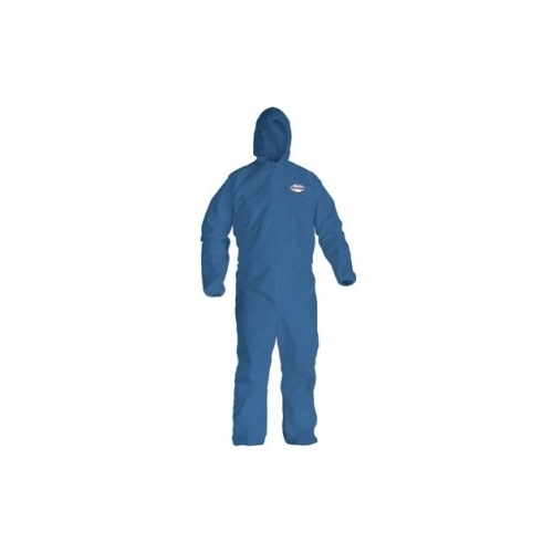 KleenGuard A20 Coveralls, Blue Demin, Zipper Front, Elastic Back,Wrists, Ankles & Hood