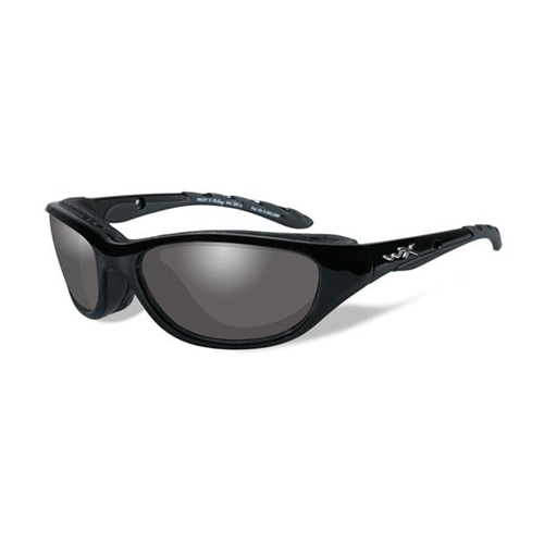 Wiley X AirRage Sunglasses LA Light Adjusting Smoke Grey Lens/Gloss Black Frame