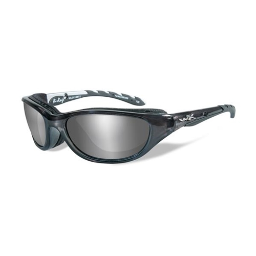 Wiley X AirRage Sunglasses Polarized Silver Flash Lens/Crystal Metallic Frame