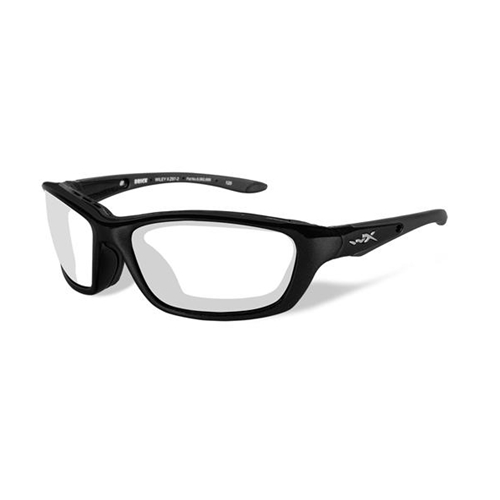 Wiley X Brick Sunglasses Clear Lens/Gloss Black Frame