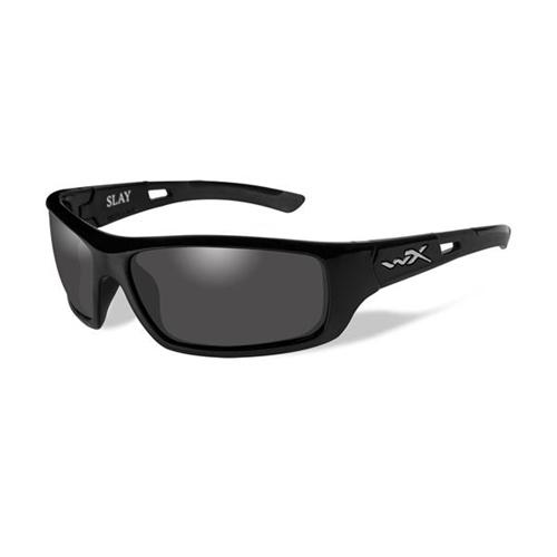 Wiley X Slay Sunglasses Polarized Smoke Grey Lens Gloss
