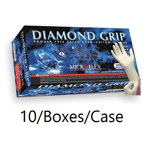 Microflex Diamond Grip Powder-Free Textured Latex Gloves  [CASE]