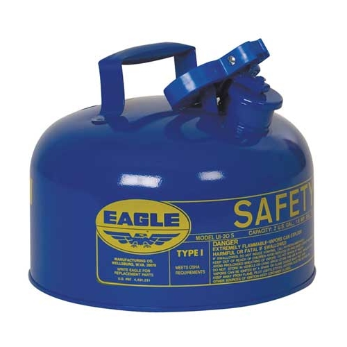 Eagle Type I Safety Can, 2 Gal. Blue, UI-20-SB