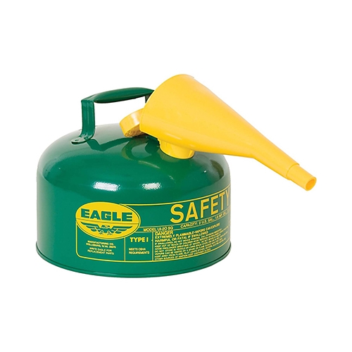 Eagle Type I Safety Can, 2 Gal. Green with F-15 Funnel, UI-20-FSG
