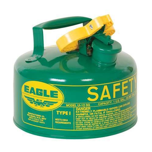 Eagle Type I Safety Can, 1 Gal. Green, UI-10-SG