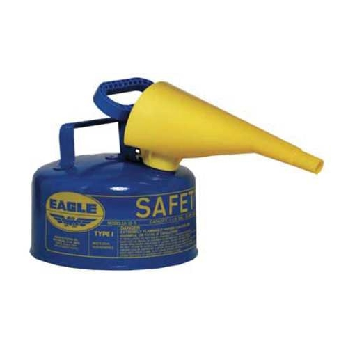 Eagle Type I Safety Can, 1 Gal. Blue with F-15 Funnel, UI-10-FSB