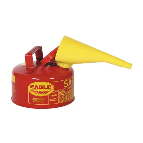Eagle Type I Safety Can, 1 Gal. Red with F-15 Funnel, UI-10-FS