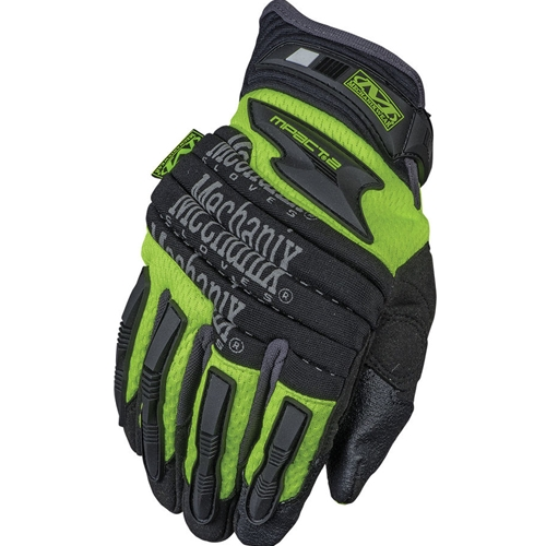 Mechanix Wear M-Pact 2 Series Glove, Hi-Viz Yellow