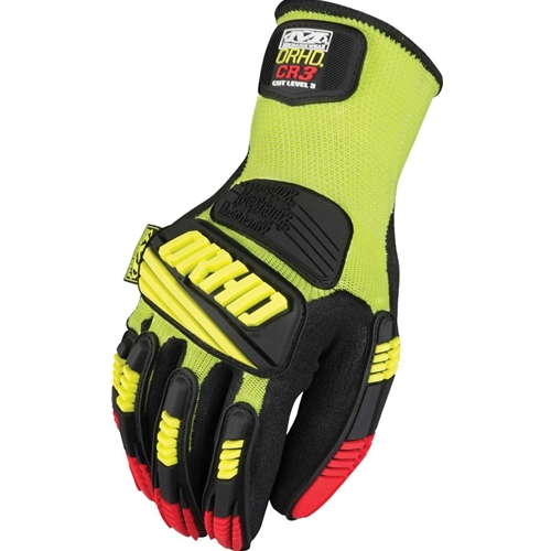 Mechanix Wear Knit ORHD Series Glove, Hi-Viz Yellow/Black
