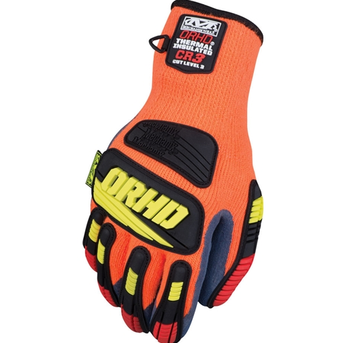 Mechanix Wear Knit ORHD Winter Series Glove, Cut 5, Hi-Viz Orange/Blue