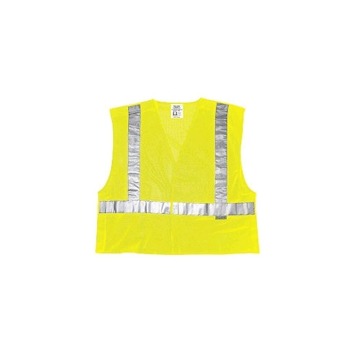 MCR (CL2ML) Class 2 Lime Polyester Tear-Away Vest, Velcro Closures