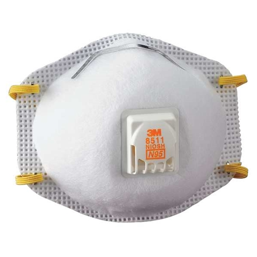 "3M 8511 N95 Particulate Respirator with ""Cool Flow"" Exhalation Valve"
