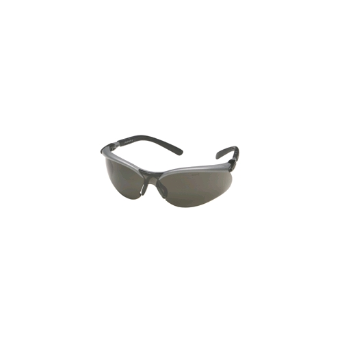 AOSafety BX Safety Glasses, Silver/Black Frame, Gray Anti-Fog Lens