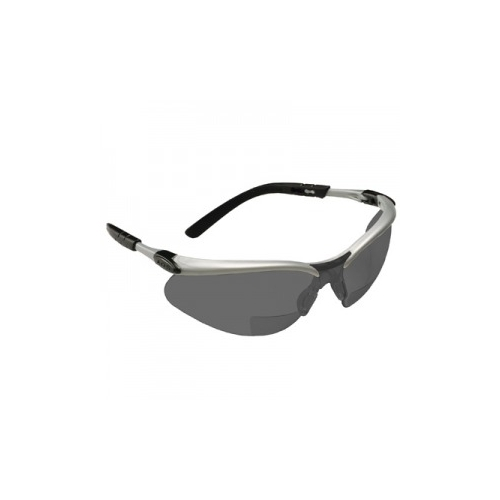 AOSafety BX Safety Glasses - Silver/Black Frame, Gray