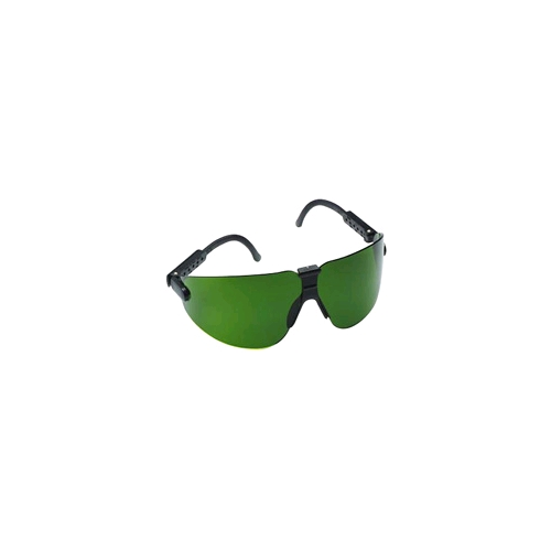 AOSafety Lexa, Medium, Black Frame, Green Shade 3.0, DX Lens