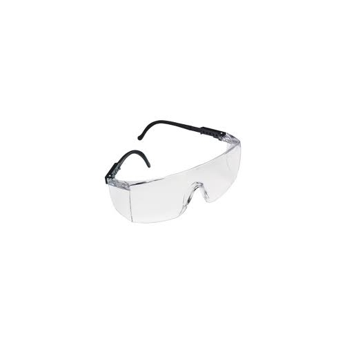 AOSafety Seepro Fighter Safety Glasses, Black Frame, Clear Lens