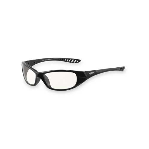 Jackson Hellraiser Safety Glasses, Black Frame, Clear Anti-Fog Lens