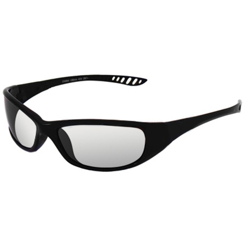 Jackson Hellraiser Safety Glasses, Black Frame, Indoor/Outdoor Lens