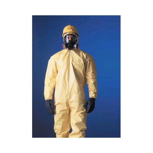 DuPont Tychem QC Coveralls w/Elastic Wrists & Ankles, Serged Seam