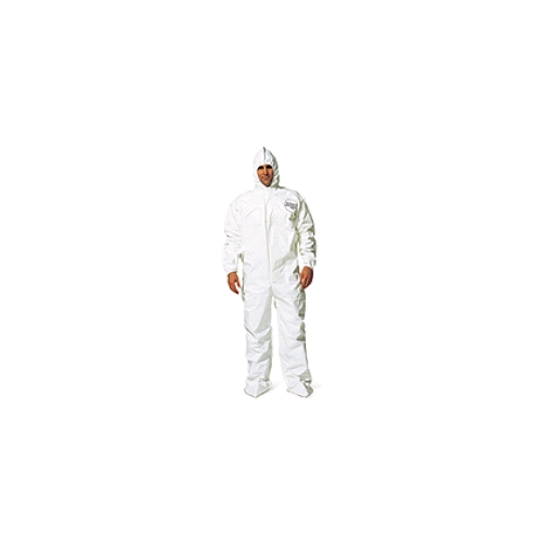 DuPont Tychem SL Coverall w/Elastic Wrists & Attached Hood/Boots