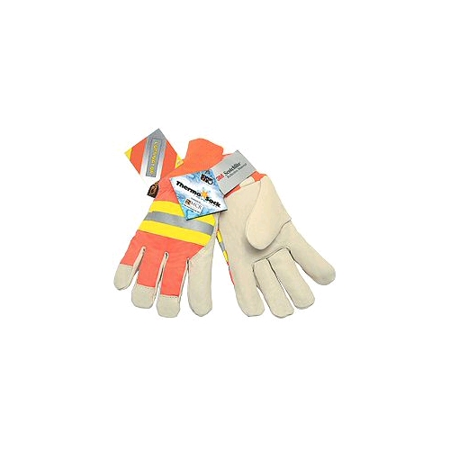 Memphis Reflective Pig Skin Gloves, Large