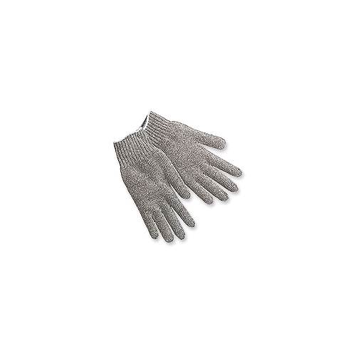 Memphis String Knit Gloves, Heavy Weight, Gray Cotton/Poly Blend, Large