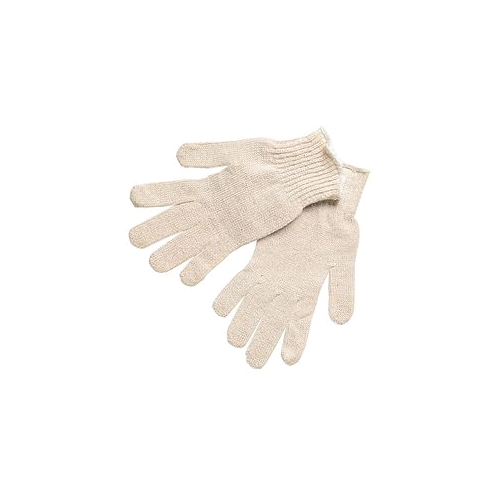 Memphis String Knit Gloves, Knit Cotton/Polyester Natural, Large