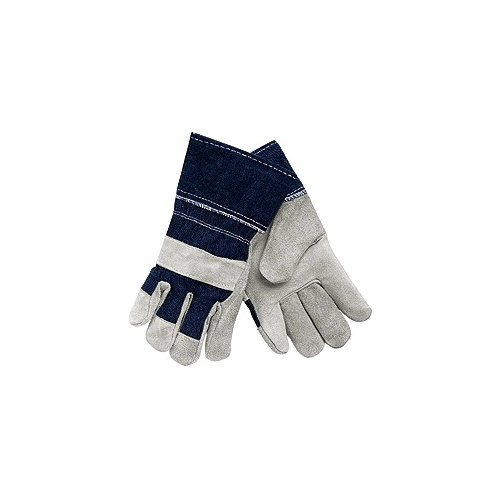 "Memphis Shoulder Split Leather Gloves, 2 1/2"" Denim Cuffs w/Patch Palm, Men's"