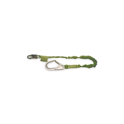 Miller 219M/6FTGN Manyard ll Stretchable Shock-Absorbing Lanyard, Single Leg, Snap Hook/Rebar Hook